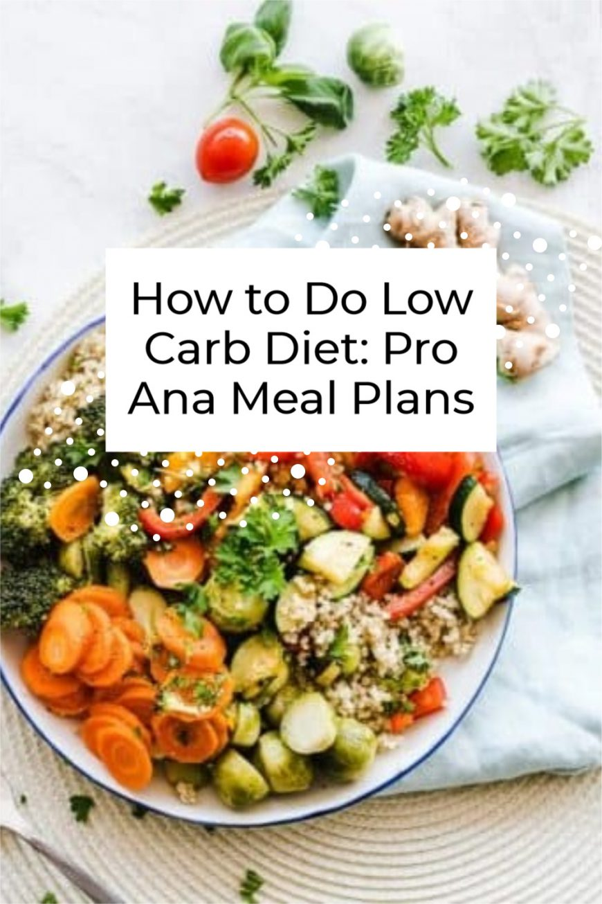 How to Do Low Carb Diet: Pro Ana Meal Plans